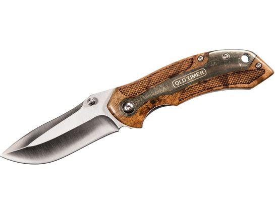 Schrade 901OT Old Timer Assisted Folding Knife 3.125 inch Polished Plain Blade, Ironwood Handles