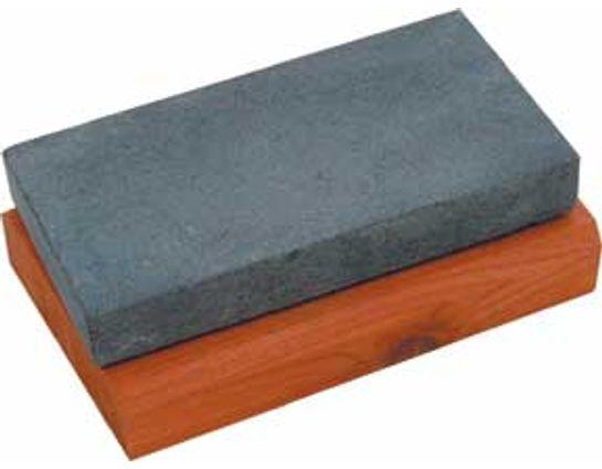 Arkansas Black Hard Arkansas Stone 4 inch x 2 inch x 1/2 inch on Cedar Block