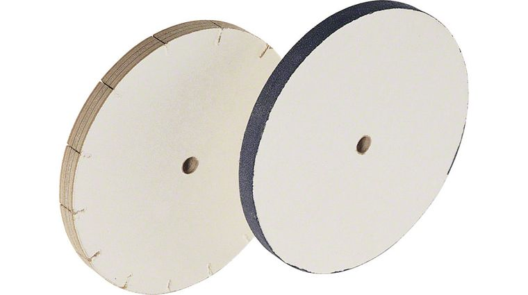 Slicing Edge Sharpening System With 8 inch Grit Wheel and Polishing Wheel