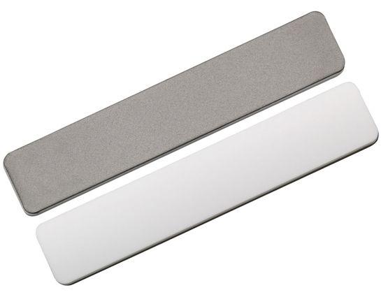 EZE-LAP Super Fine Diamond/Ceramic Combination Pocket Stone 4 inch, Leather Pouch