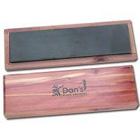 Dan's Whetstone Black Hard Arkansas Ultra Fine Bench Stone Wooden Box 8 inch x 2 inch x 1/2 inch