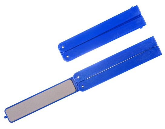 EZE-LAP EZE-Fold Super Fine Diamond Sharpener, 1200 Grit, Blue Handles