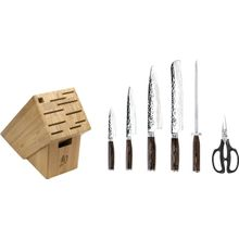 Shun TDMS0700 Premier 7 Piece Essential Bamboo Block Set