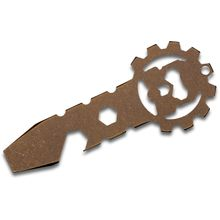 Smock Knives SmocKey Titanium Keychain Pocket Tool, Bronze Anodized, 3.25 inch Overall
