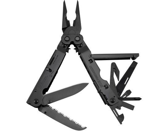 SOG PowerAssist Multi-Tool with Assisted Blades, Black Oxide, Nylon Sheath
