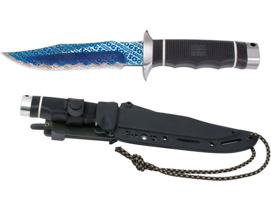 SOG Tech Bowie (Monogram) 6.1 inch Fixed Blade with Kydex Sheath