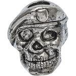 Spartan Blades Pewter Beret Skull Bead