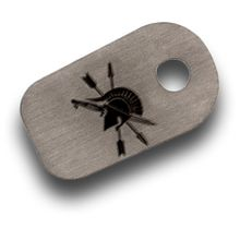 Spartan Blades Stonewashed Titanium  inchSpartan Logo inch Filler Tab