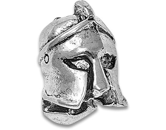 Spartan Blades Pewter Spartan Helmet Bead
