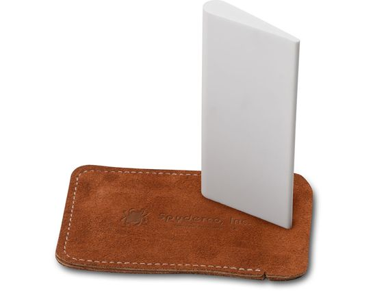 Spyderco Fine Grit Ceramic Slip Stone Sharpener 2 inch x 4 inch