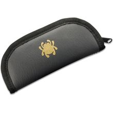 Spyderco Small Mock Leather Padded Zipper Pouch, 5 inch Overall