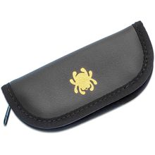 Spyderco Large Mock Leather Padded Zipper Pouch, 7 inch Overall