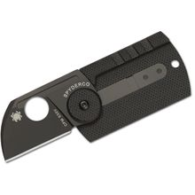 Spyderco Serge Panchenko Dog Tag Folder 1.22 inch S30V Chisel Ground Blade, Carbon Fiber and G10 Handles