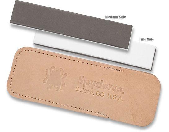 Spyderco Double Stuff Sharpening Pocket Stone, Fine and Medium Grits