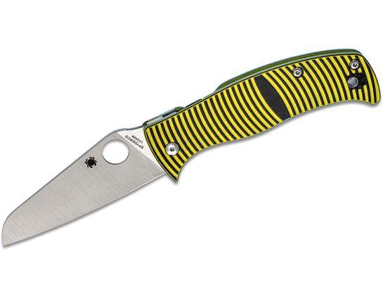 Spyderco Caribbean Folding Knife 3.7 inch Rustproof LC200N Sheepsfoot Plain Blade, 3D Machined G10 Handles