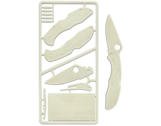 Spyderco Delica C11 Glow in the Dark Plastic Folding Knife Kit