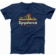 Spyderco Mountain Unisex T-Shirt, Heather Navy, Large