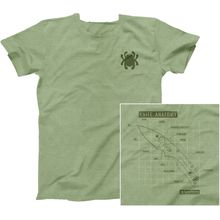 Spyderco Knife Anatomy Unisex T-Shirt, Heather Green, Small