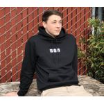 Squid Industries Hoodie- Black with Squiddy Squad Embroidered Logo, X-Large