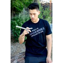 Squid Industries T-Shirt - Black with  Squidtrainer Logo, Large