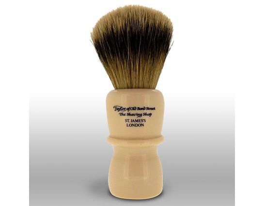 Taylor of Old Bond Street S40 Super Badger 13 cm Very Large Shaving Brush, Faux Ivory Handle