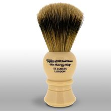 Taylor of Old Bond Street S2235 Super Badger 11.25 cm Medium Shaving Brush, Faux Ivory Handle