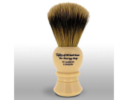 Taylor of Old Bond Street S2235 Super Badger 11.25 cm Medium Shaving Brush, Faux Ivory Handle