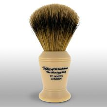 Taylor of Old Bond Street S376 Super Badger 11 cm Medium Shaving Brush, Faux Ivory Handle