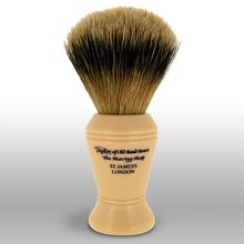 Taylor of Old Bond Street S377 Super Badger 12 cm Large Shaving Brush, Faux Ivory Handle
