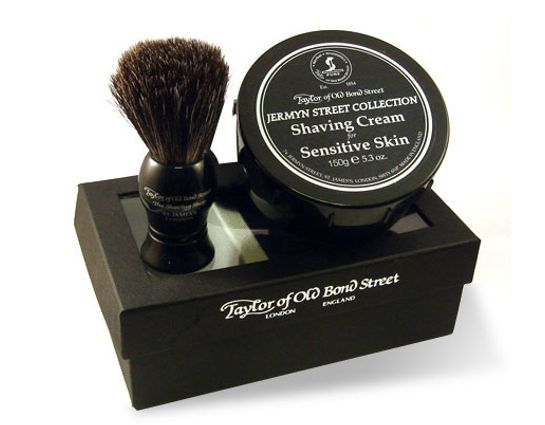 Taylor of Old Bond Street Pure Badger Brush & Jermyn Street Collection Bowl Gift Box Shave Set