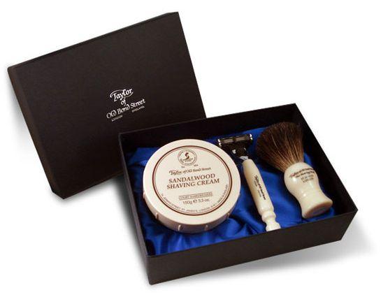 Taylor of Old Bond Street Satin Gift Box Sandalwood Shave Set