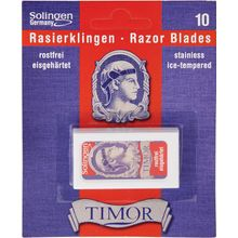 Timor Double Edge Razor Blades, 10-Pack