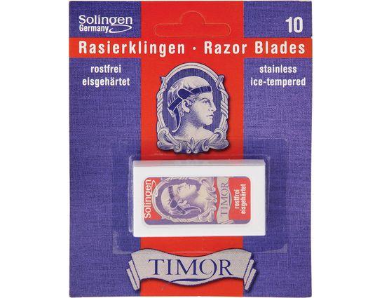 Timor Double Edge Razor Blades, 10-Pack