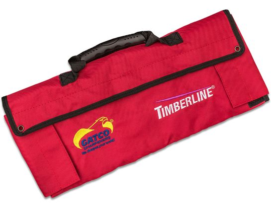 Timberline Red Ballistic Nylon Knife Roll, Holds 12 Folding Knives