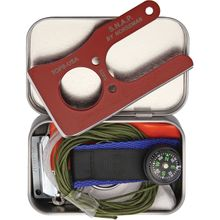 TOPS Knives SNAP Survival Kit with 3.5 inch 1095 Carbon Fixed Card Knife