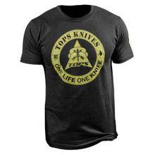 TOPS Knives One Life One Knife Logo T-Shirt, Black,  X-Large
