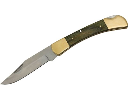 Utica Traditional Hunter Lockback Folding Knife 3-3/4 inch Blade, Hardwood Handles