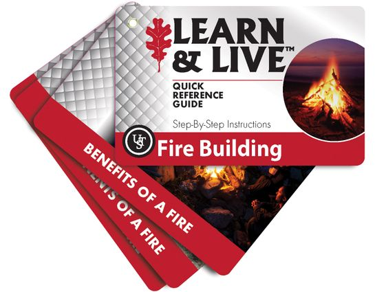 UST Ultimate Survival Learn & Live Fire Building Cards