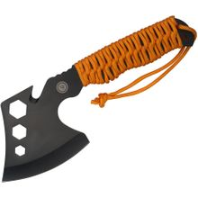 UST Ultimate Survival ParaHatchet FS Multi-Tool, Fire Starter, Orange Paracord Wrapped Handle, Black Nylon Sheath