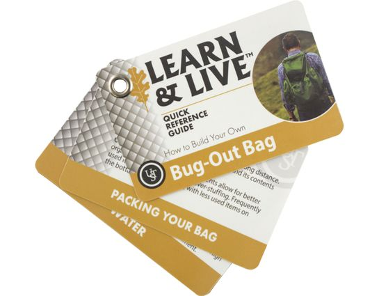 UST Ultimate Survival Learn & Live Bug-Out Bag Cards
