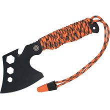 UST Ultimate Survival ParaHatchet PRO Multi-Tool, Fire Starter, Orange ParaTinder Wrapped Handle with Whistle, Black Nylon Sheath