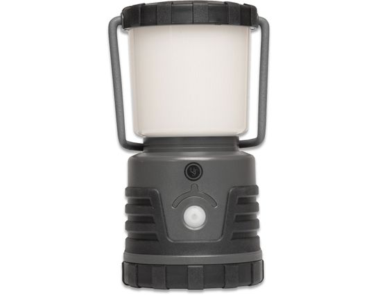 UST Ultimate Survival 30 Day DURO Dual Power LED Lantern 1000 Max Lumens, Rechargeable or 3D Batteries, Gray