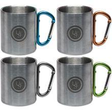 UST Ultimate Survival KLIPP Biner Mug 1.0, Stainless Steel, 4 Pack