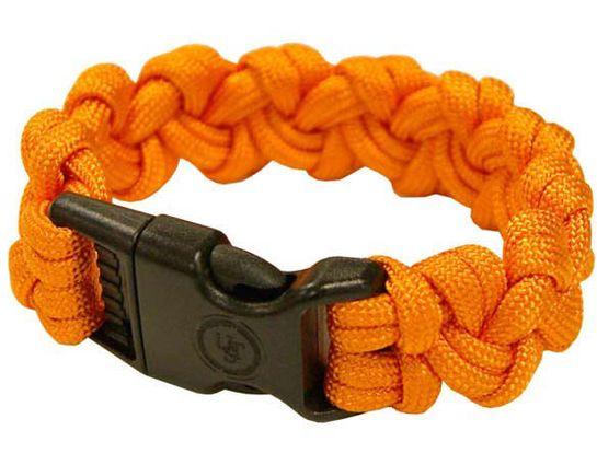 UST Ultimate Survival 550 Paracord Survival Bracelet with Basic Clasp, Orange