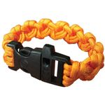 UST Ultimate Survival 550 Paracord Survival Bracelet with Whistle Clasp, Orange