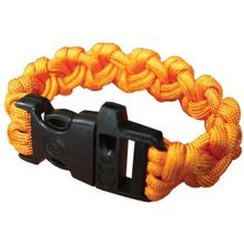 UST Ultimate Survival 550 Paracord Survival Bracelet with Whistle Clasp, Orange