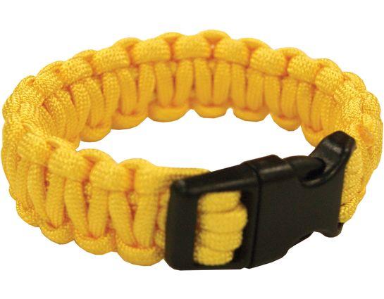 UST Ultimate Survival Paracord Survival Bracelet, Yellow (26-295BB-09)