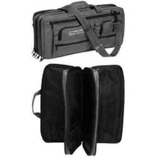 The Ultimate Edge EDGT Deluxe 18 Piece Knife Case, 5 Exterior Pockets, Graphite