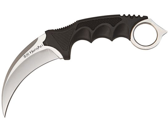 United Cutlery Honshu Karambit 4 inch Satin Blade, Shoulder Harness, Plastic Sheath