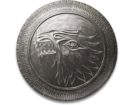 Valyrian Steel Game of Thrones Stark Infantry Shield w/ 3-Sword Wall Mount